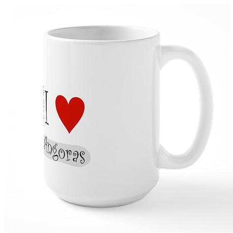 """I """"heart"""" angora rabbits Large Mug"""