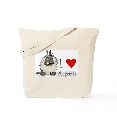 "I ""heart"" angora rabbits Tote Bag"