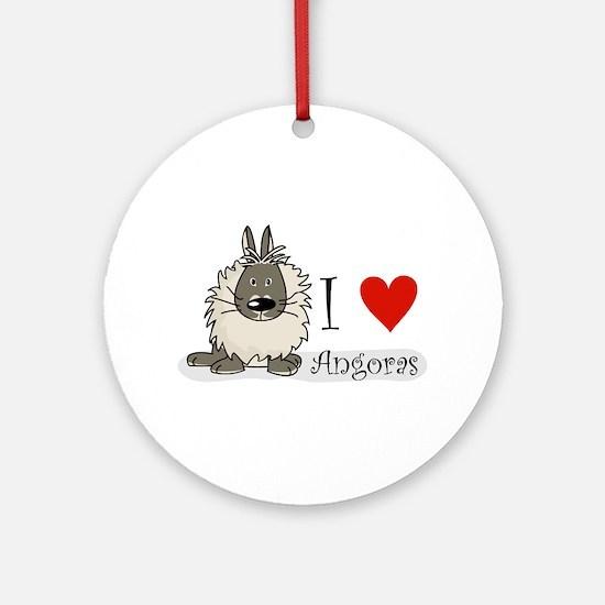 "I ""heart"" angora rabbits Ornament (Round)"