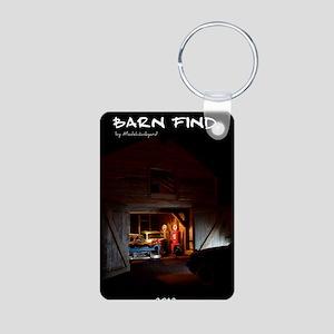 barn-find vertical calenda Aluminum Photo Keychain