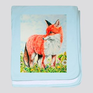 Young Fox baby blanket