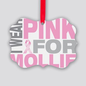 I-wear-pink-for-MOLLIE Picture Ornament