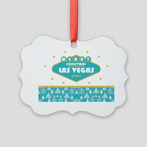 Las Vegas Christmas Card Picture Ornament