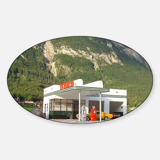 gas-dreamin-oversized-wall-calendar Sticker (Oval)