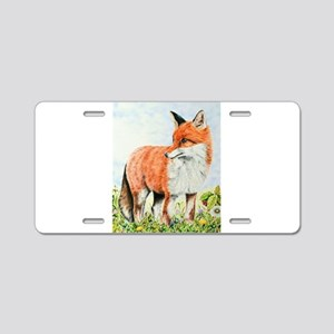 Young Fox Aluminum License Plate