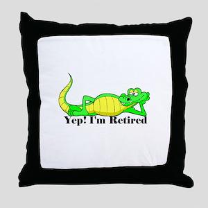 'Gator Gab.:-)' Throw Pillow