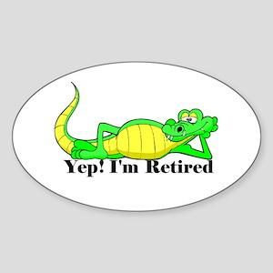 'Gator Gab.:-)' Oval Sticker