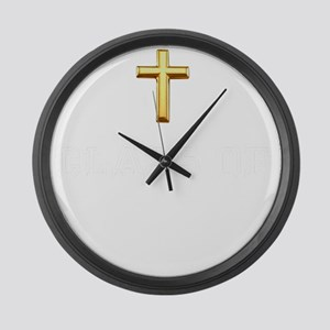 Class Of 2020 Cross White 1 Large Wall Clock