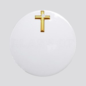 Class Of 2020 Cross White 1 Round Ornament
