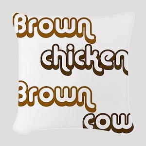 brown1 Woven Throw Pillow