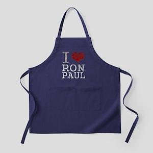 I love Ron Paul t shirt Apron (dark)