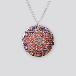 persian carpet 1 Necklace Circle Charm