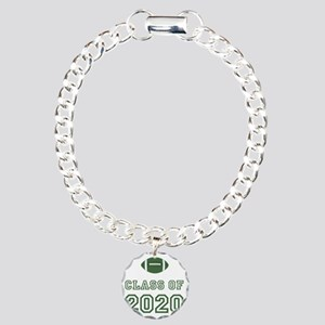 Class Of 2020 Football G Charm Bracelet, One Charm