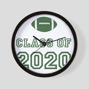 Class Of 2020 Football Green 1 Wall Clock