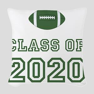 Class Of 2020 Football Green 1 Woven Throw Pillow