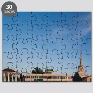 Russia, Black Sea Coast, Sochi, Sea Termina Puzzle