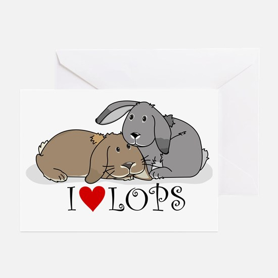 """I """"heart"""" lops Greeting Cards (Pk of 10)"""