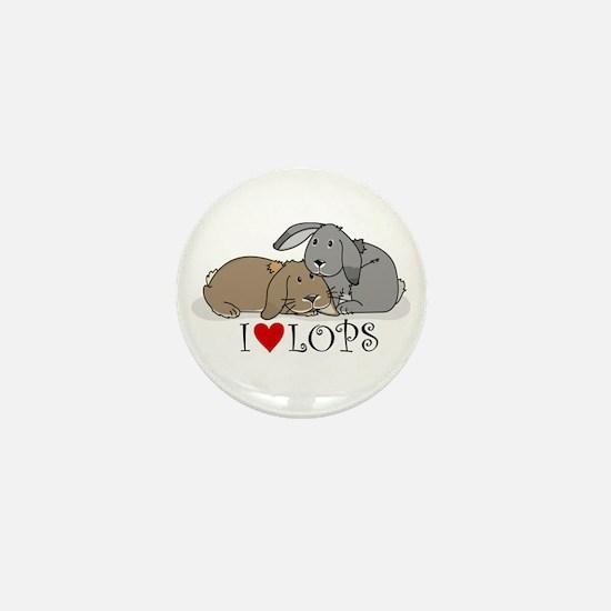 """I """"heart"""" lops Mini Button"""