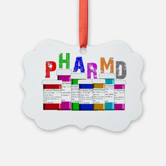 pharm D multi bottles 1 Ornament