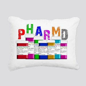pharm D multi bottles 1 Rectangular Canvas Pillow