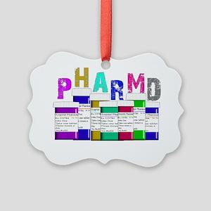 Pharm D Multi bottles 2 Picture Ornament