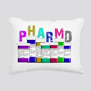 Pharm D Multi bottles 2 Rectangular Canvas Pillow