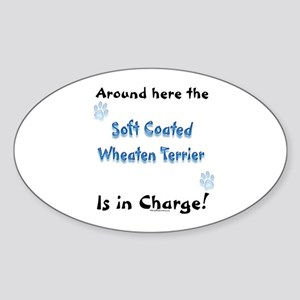 Wheaten Charge Oval Sticker