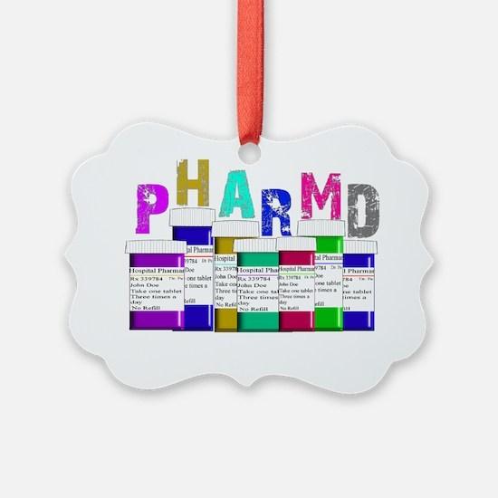 Pharm D Multi bottles 2 Ornament