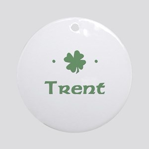 """Shamrock - Trent"" Ornament (Round)"
