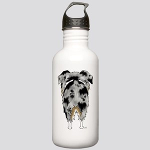 BlueMerleAussieShirtBa Stainless Water Bottle 1.0L