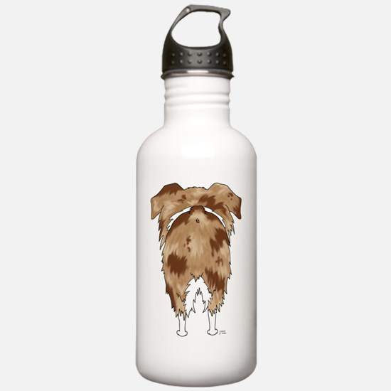 RedMerleAussieShirtBac Water Bottle