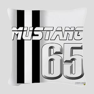 mustangbar65 Woven Throw Pillow