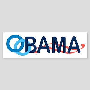 Obama Wave White Bumper Sticker