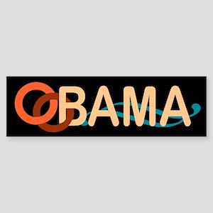 Obama Wave Black Bumper Sticker