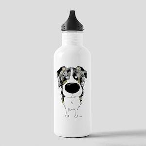 BlueMerleAussie5x7 Stainless Water Bottle 1.0L