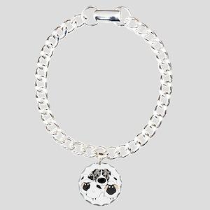 BlueMerleHerdingDk Charm Bracelet, One Charm