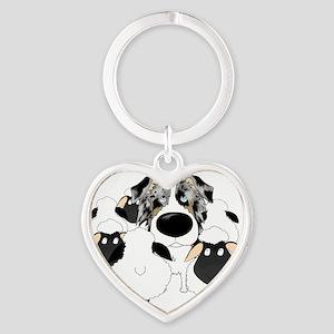 BlueMerleHerdingDk Heart Keychain