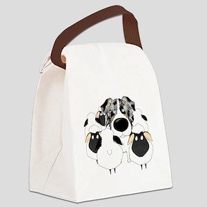 BlueMerleHerdingDk Canvas Lunch Bag