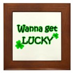 Wanna Get Lucky Framed Tile