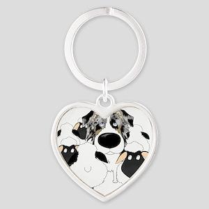 BlueMerleHerdingLt Heart Keychain