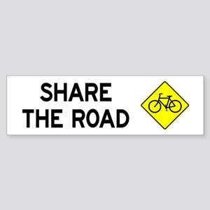 Bike Sign Share the Road Bumper Sticker