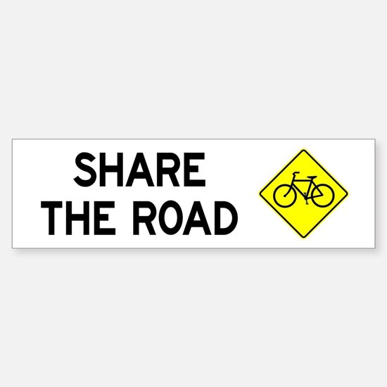 Bike Sign Share the Road Bumper Bumper Bumper Sticker