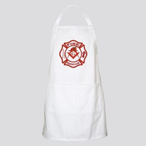 S&C Wearing the Fire Fighters Hat BBQ Apron
