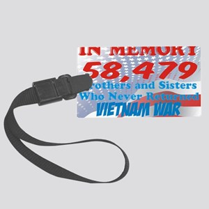 In memory Viet nam Brothers Large Luggage Tag