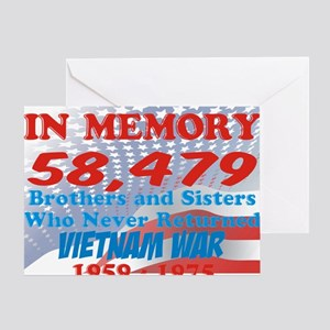 In memory Viet nam Brothers Greeting Card