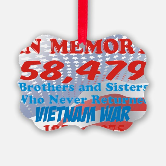 In memory Viet nam Brothers Ornament