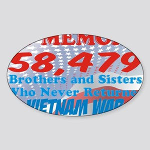In memory Viet nam Brothers Sticker (Oval)