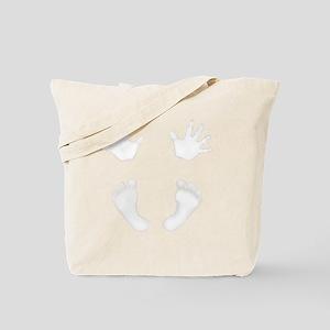 NewestBabyHandsandFeet3White Tote Bag