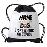 Home is where the dog is Icelandic Sheepdog Drawst