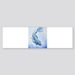 Blue Betta Bumper Sticker